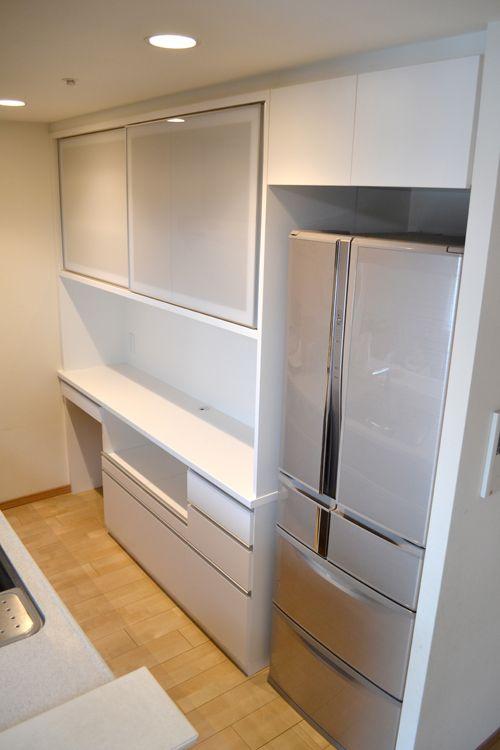 食器棚 サイズ W1993 D420 450 H2303 冷蔵庫上部収納 サイズ W757