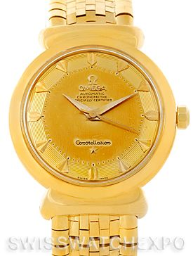 Omega Constellation Grand Luxe 18K Yellow Gold Watch 14365