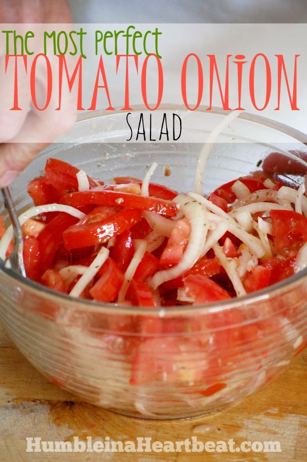 The Most Perfect Tomato Onion Salad Tomato Onion Salad is super easy to make and everyone loves it Just a few simple ingredients and you have the perfect summer BBQ side...