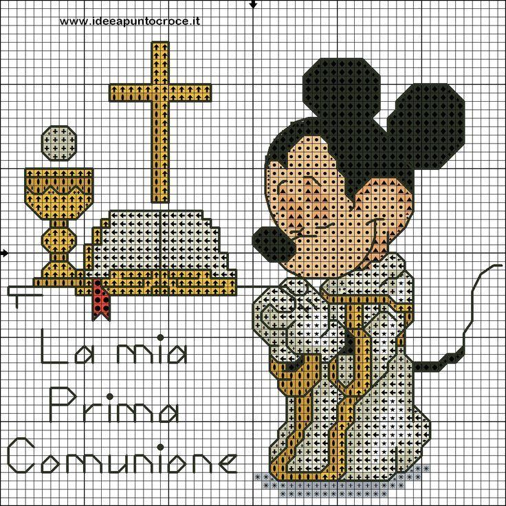 Très topolino prima comunione punto croce by syra1974.deviantart.com on  WM29