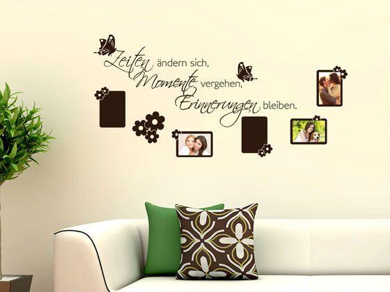 Wandtattoo Fotorahmen #Bilderrahmen Schmetterling Blumen #Deko für - wandtattoos f r wohnzimmer