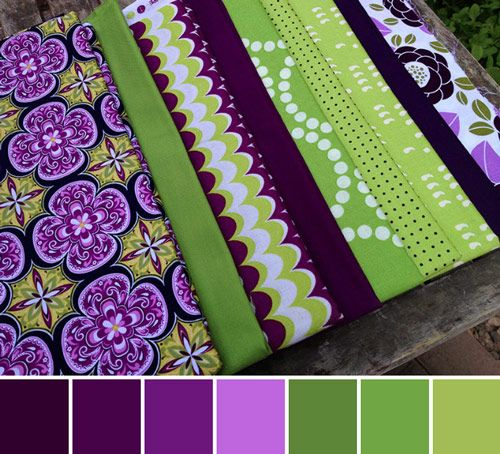 "Purple Color Schemes lavender and green color palette: ""sage and dark purple"" 