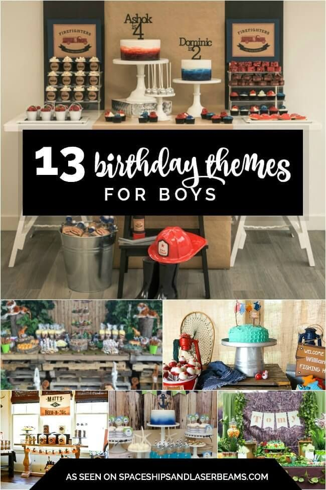 13 Birthday Themes for Boys 13th birthday Birthdays and