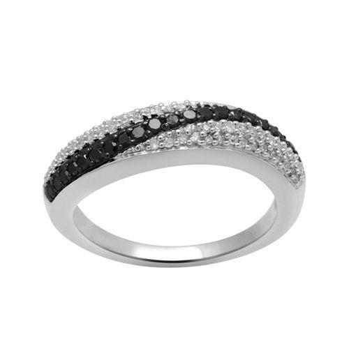 Fred Meyer Jewelers 13 ct tw Black and White Diamond Fashion