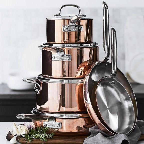 Professional Copper 10-Piece Cookware Set