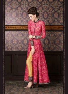 Bewitching Embroidered Work Silk Designer Suit