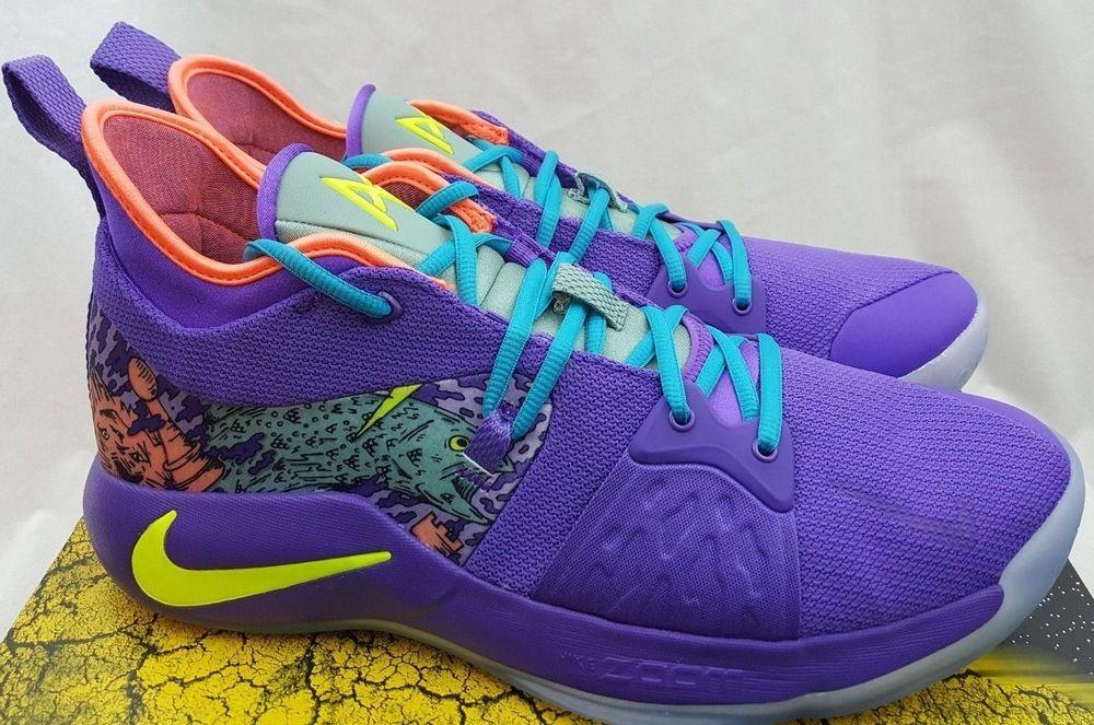 b97308e8a5d1 Nike PG 2 MM Mamba Mentality Cannon Purple Venom Paul George AO2986-001 Sz  12.5  NikeAir  AthleticSneakers