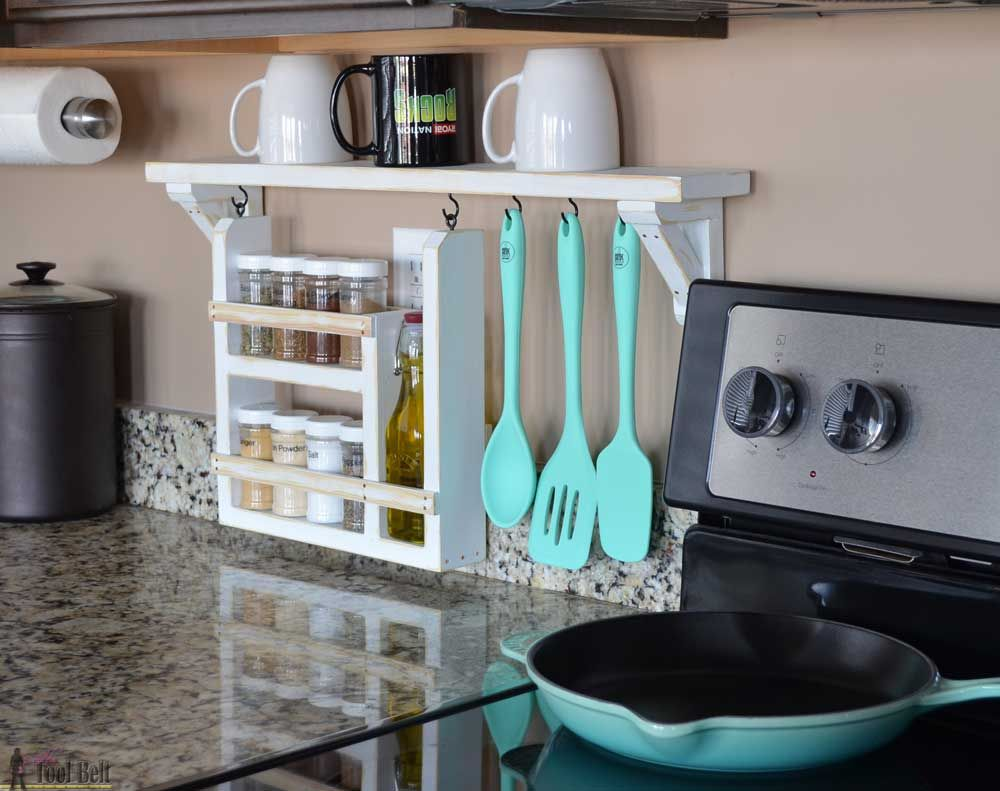 Kitchen Backsplash Shelf and Organizer | Kitchen backsplash, Kitchen ...
