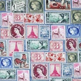Baumwolljersey Digitaldruck - Stamps