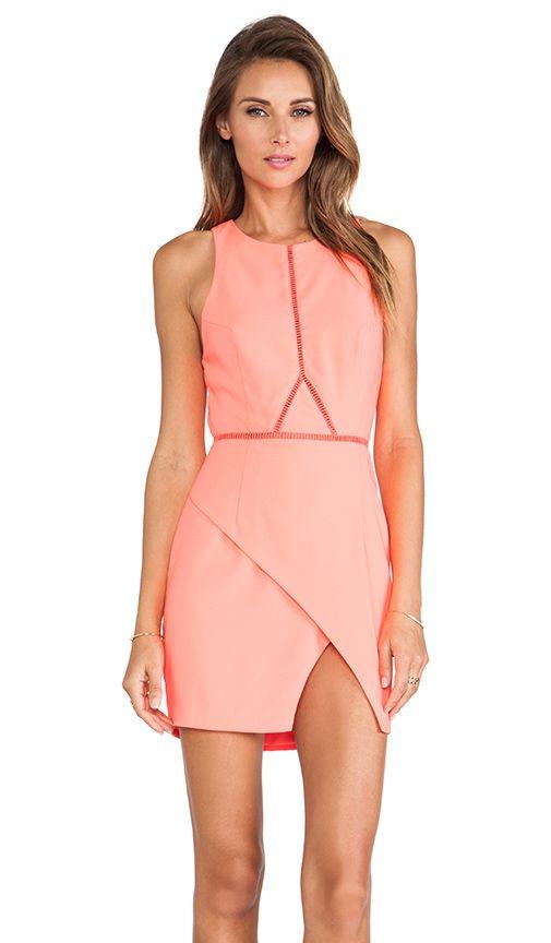 Three of Something Optics Dress in Pink Flamingo