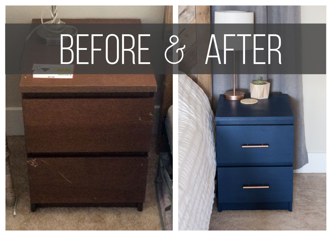 Old Ikea Nightstands Ikea Nightstand Hack -- Turn those old MALM nightstands into new fabulous  beside furniture with just a couple simple steps!