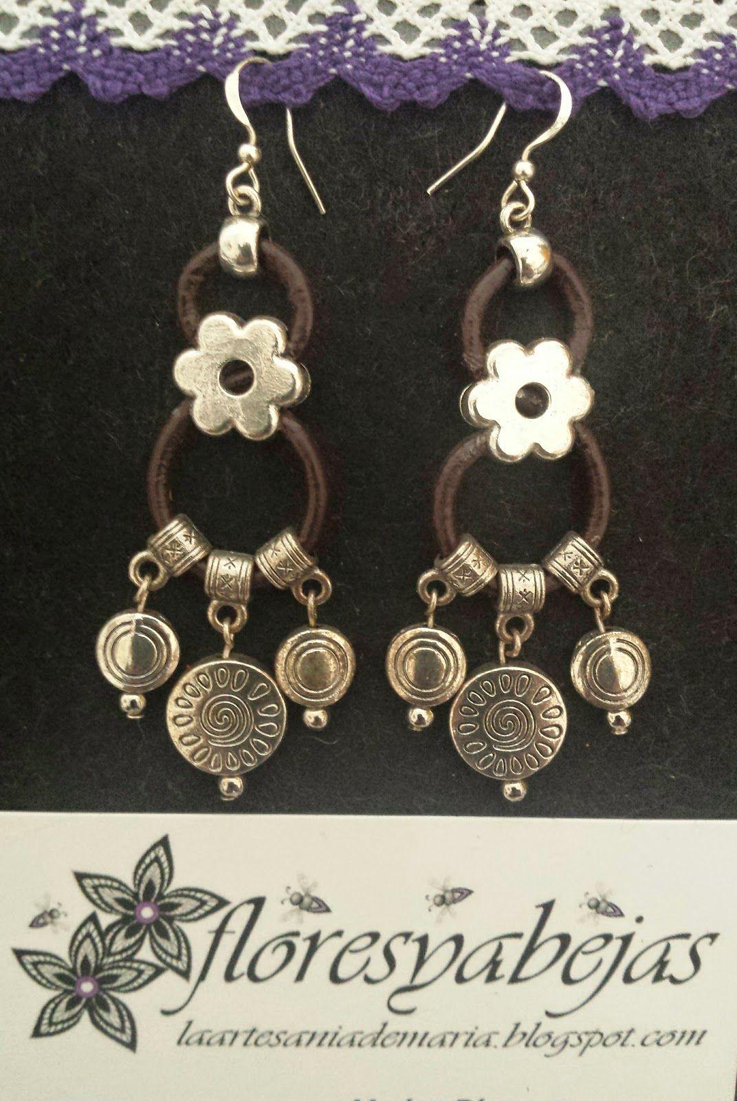 Floresyabejas : La artesania de Maria: Pendientes