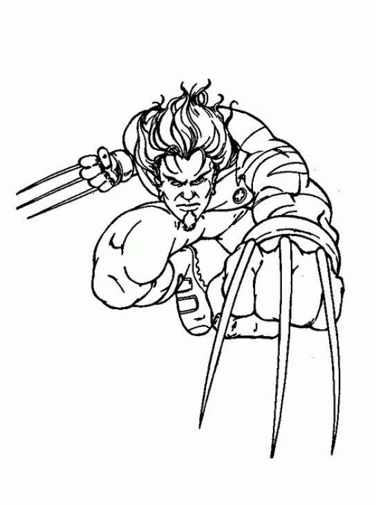 Wolverine Kids Printable Coloring Sheet Online | Superheroes ...