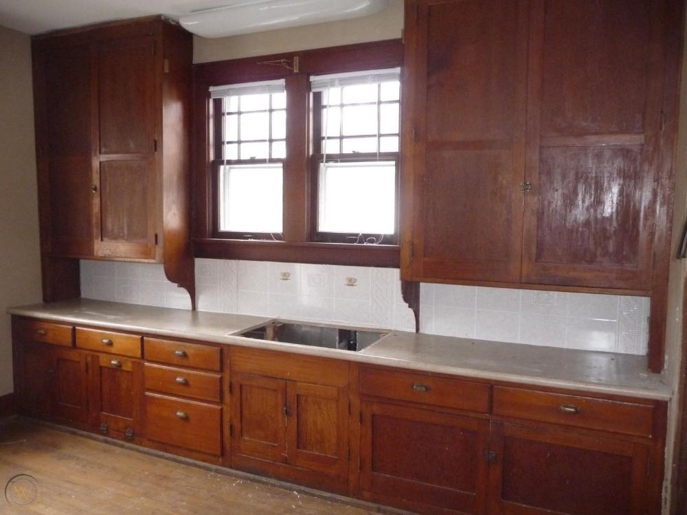 Antique Craftsman Style Kitchen Cabinets - Circa 1915 Fir ...