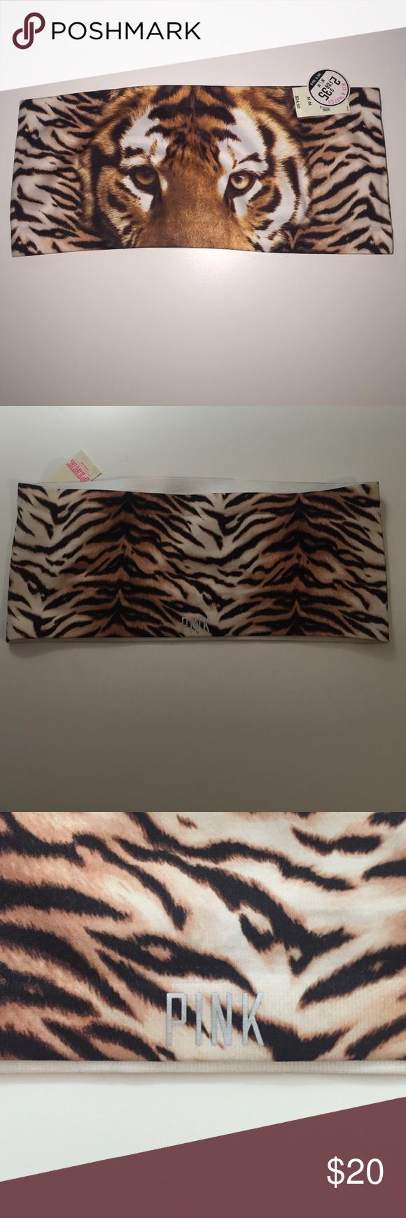 VS PINK tiger bandeau top - NWT - medium Tiger print bandeau top - NWT PINK Victoria's Secret Intimates & Sleepwear Bandeaus