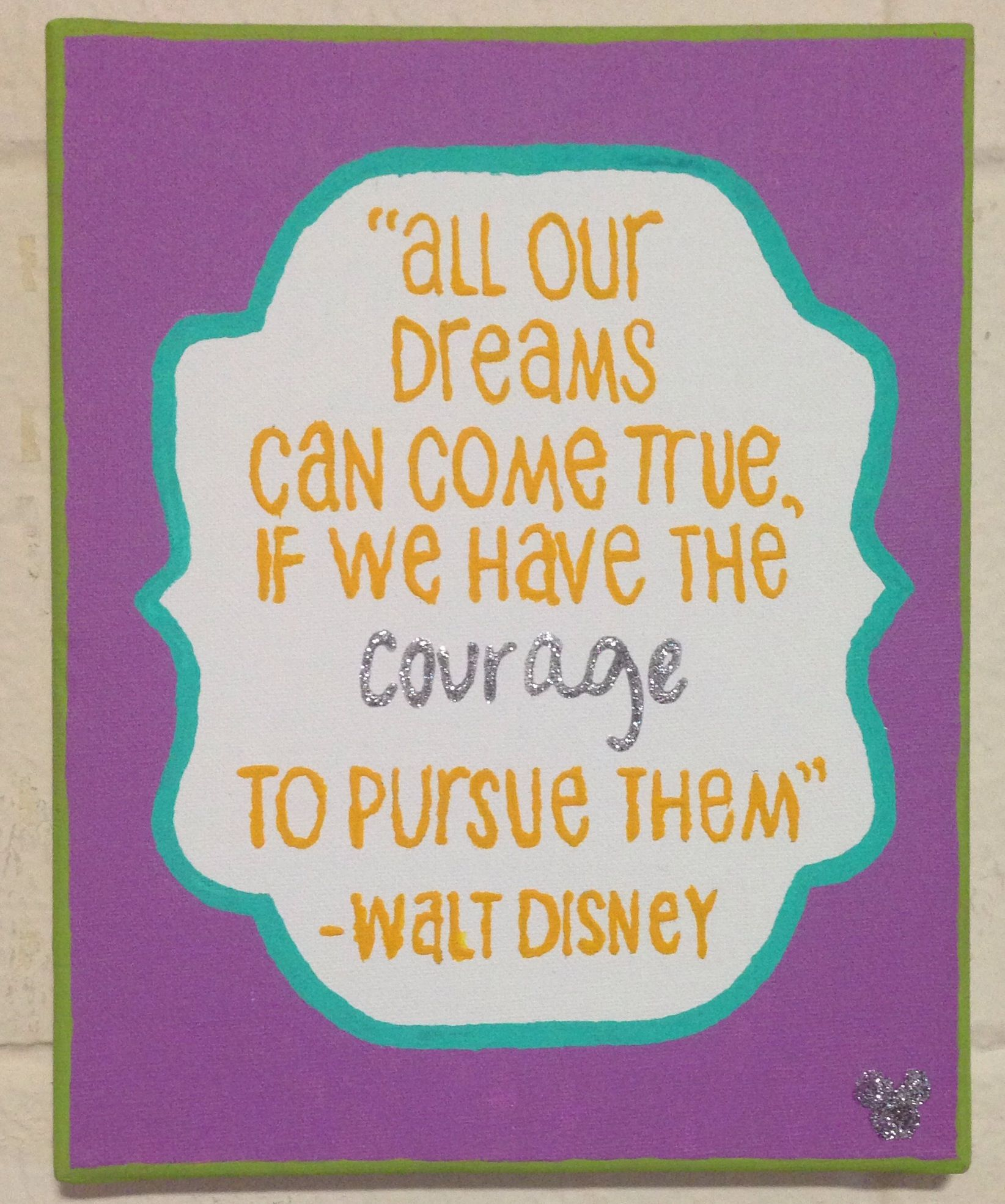 Friend Gif Handmade Wall Plaque Inspirational Disney Quote Gift What if I fall.