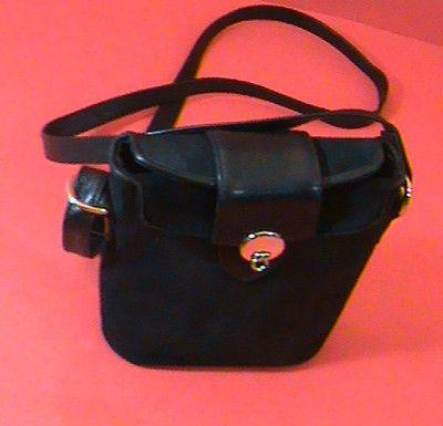 Vintage Picard Bucket Shoulder Bag Crossbody Purse Handbag Logo In Front Black