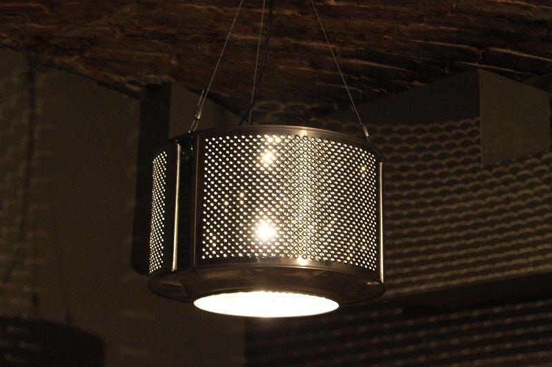 8 Prodigious Unique Ideas Lamp Shades Repurpose Lamp: Washing Machine Drum Lamp Shade - Yes Please!