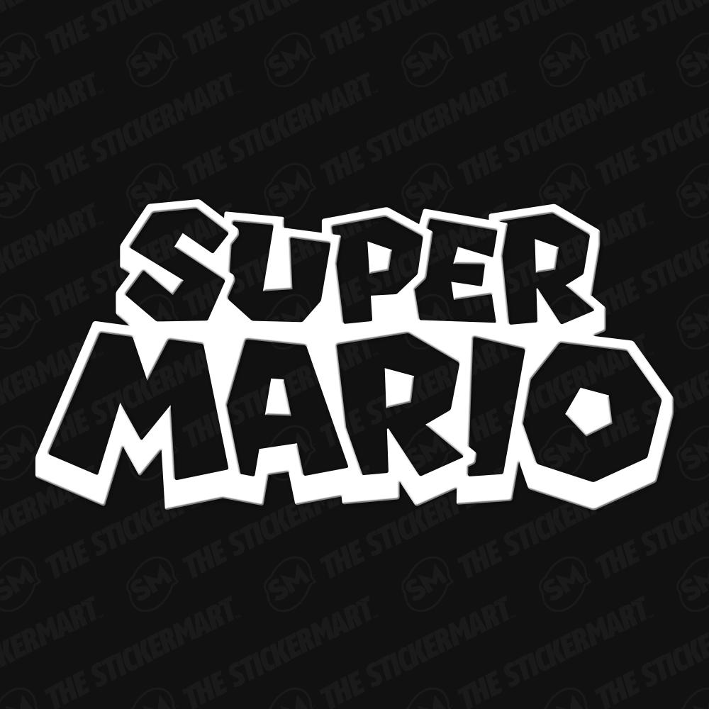 Super Mario Logo Vinyl Decal Super Mario Vinyl Decals Mario