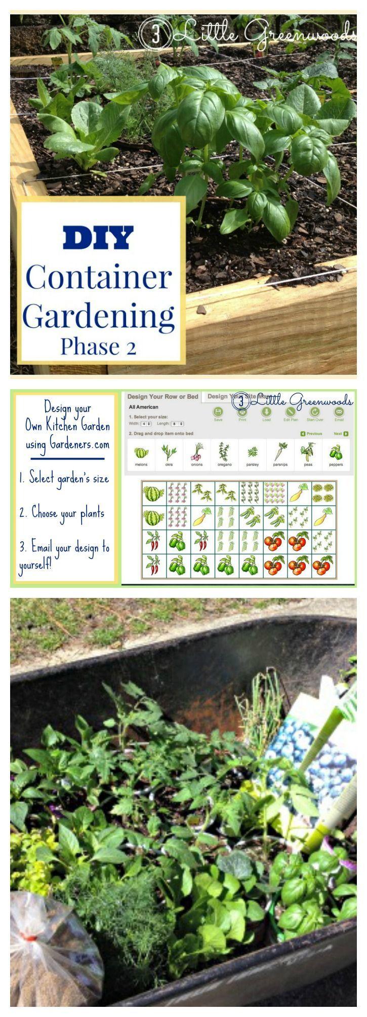 Diy Container Garden Planning And Planting Diy Container Gardening Container Gardening Backyard Vegetable Gardens Backyard garden grow your own