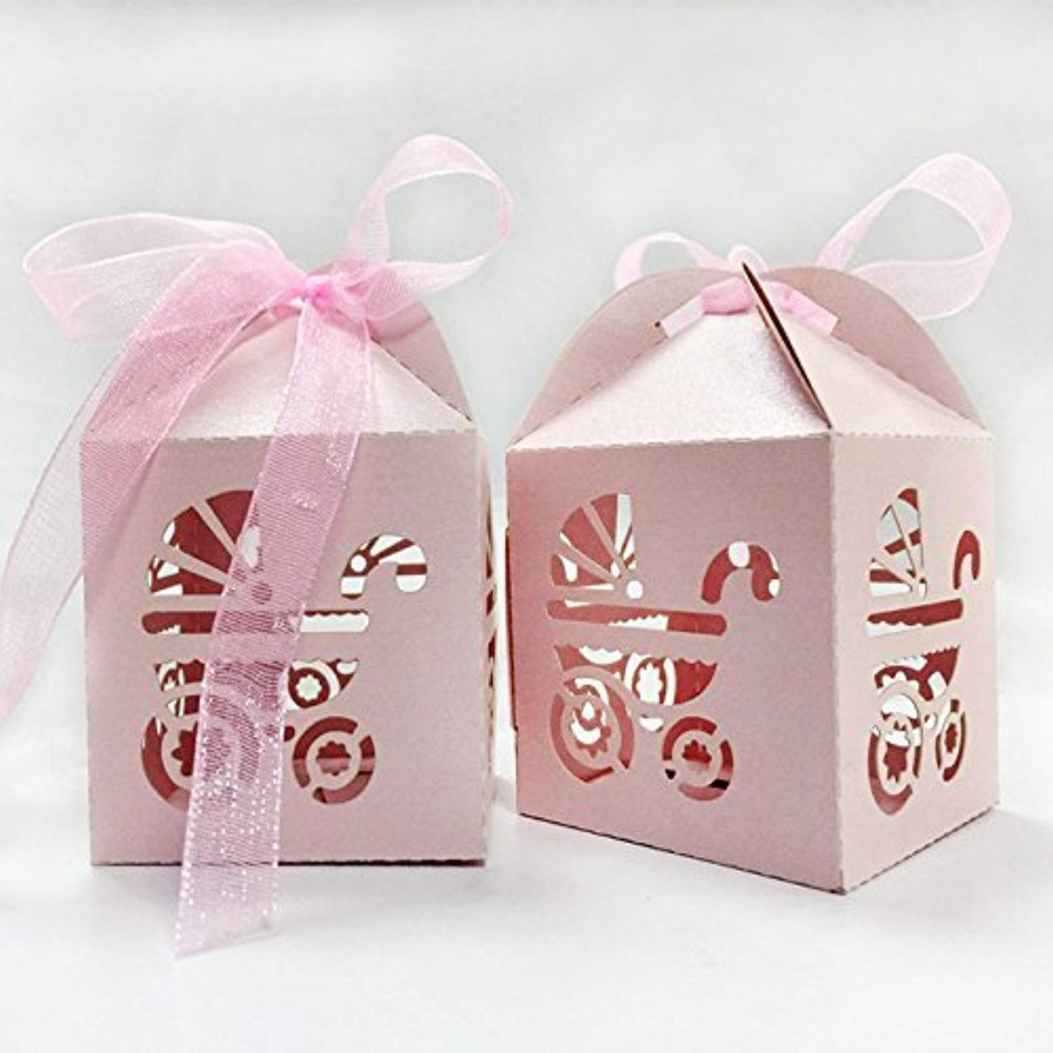 PONATIA 50pcs/Lot Laser Cut Pearl Paper Party Wedding Favor Ribbon ...