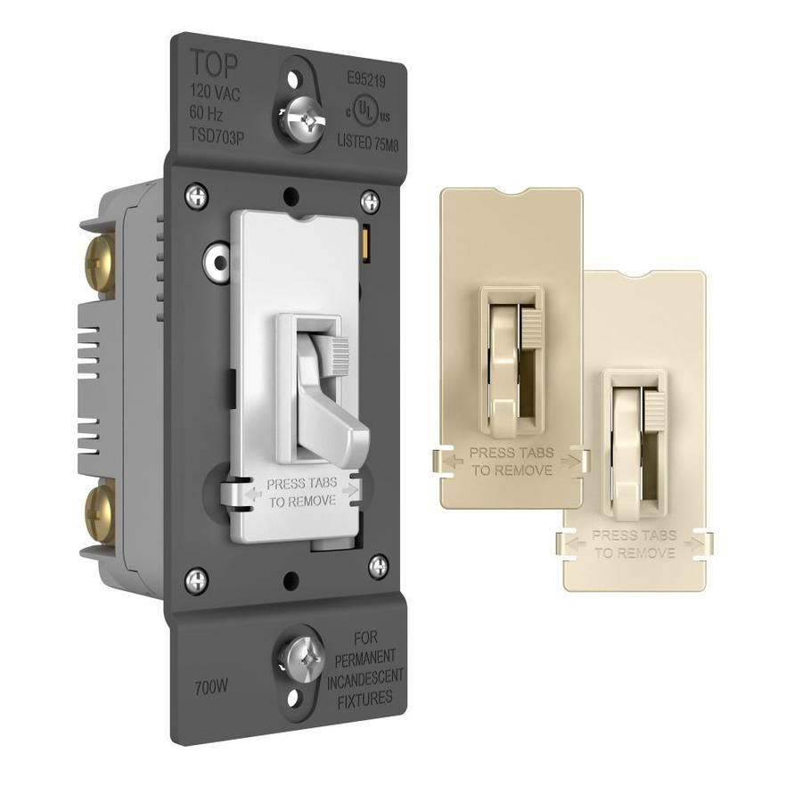 Legrand Toggle Slide 700 Watt Single Pole 3 Way White Light Almond Ivory Dimmer Tsd703ptc In 2020 Led Dimmer White Light Led