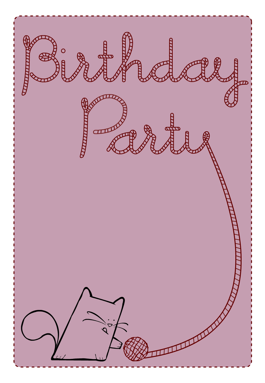 Birthday party cat free printable birthday invitation template birthday party cat free printable birthday invitation template greetings island stopboris Images