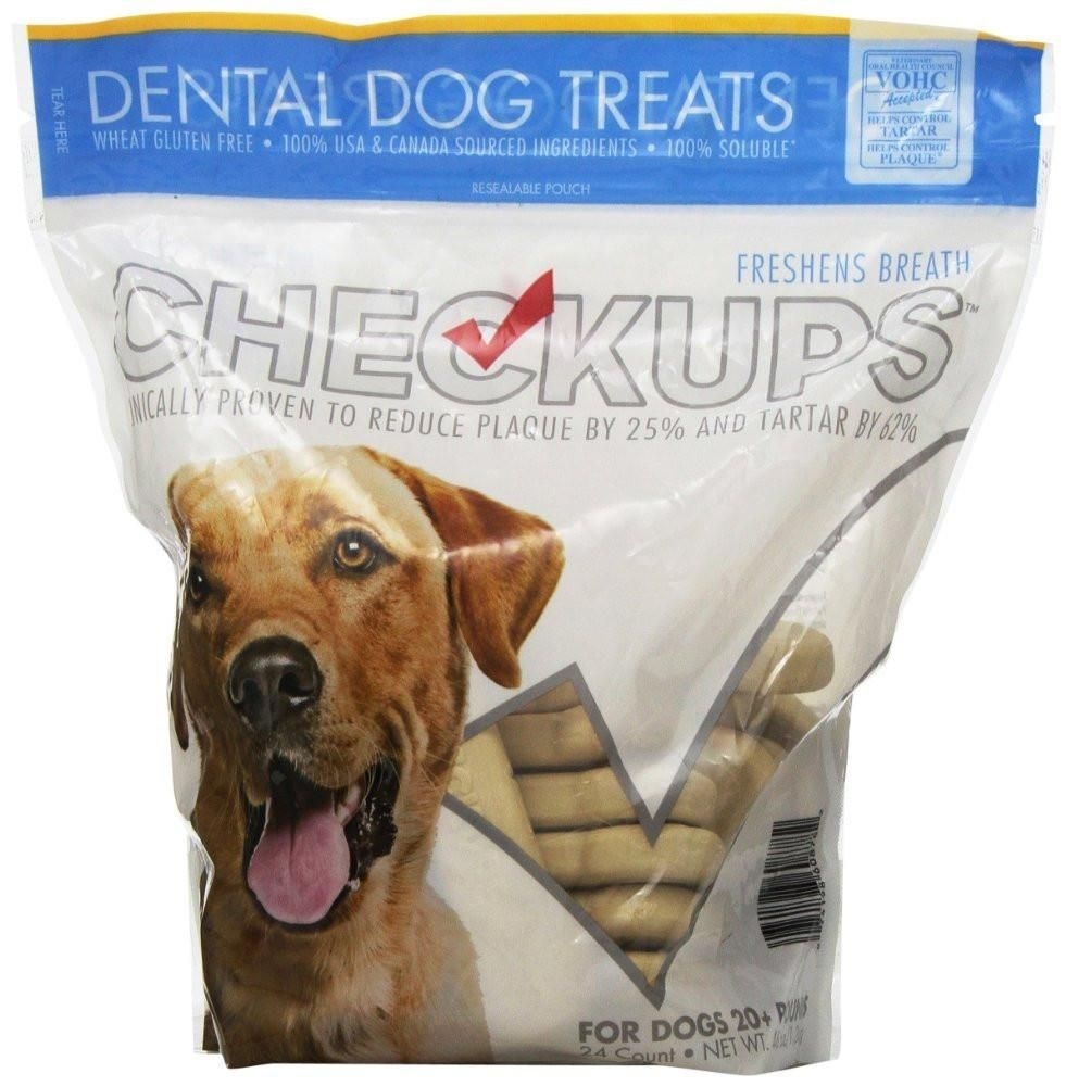 Checkups dental dog treats 24ct 48 oz for dogs pack of