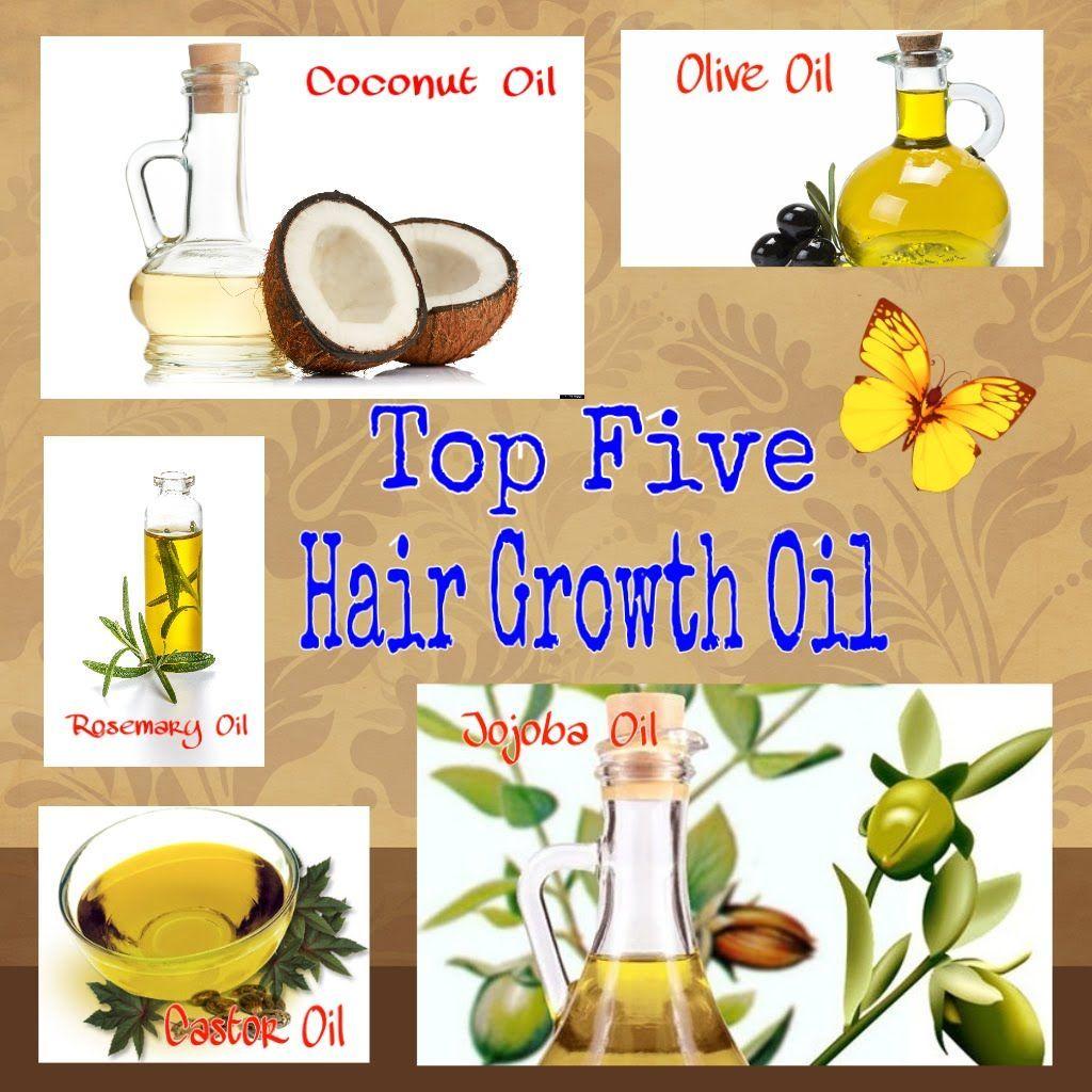 5 Oils for Healthy Hair 1. Coconut oil 2. Castor oil 3
