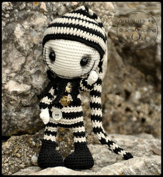 gothic doll amigurumi - ENGLISH PDF digital pattern | Puppe ...