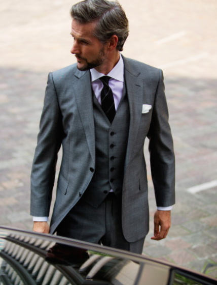 Grey Three Piece Suit | Wedding ideas | Pinterest | Smoking ...