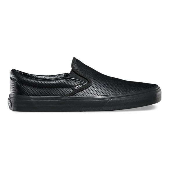 59886bbcd2 The Perf Leather Classic Slip-On features a low profile slip-on perforated  leather upper