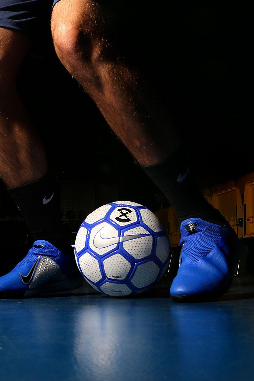 33f14a54ea Zapatillas de fútbol sala con tobillera Nike FootballX suela lisa IC -  azules