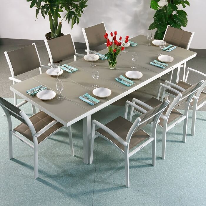 8 seater beatrice aluminium garden furniture lazy susan - Garden Furniture 8 Seater