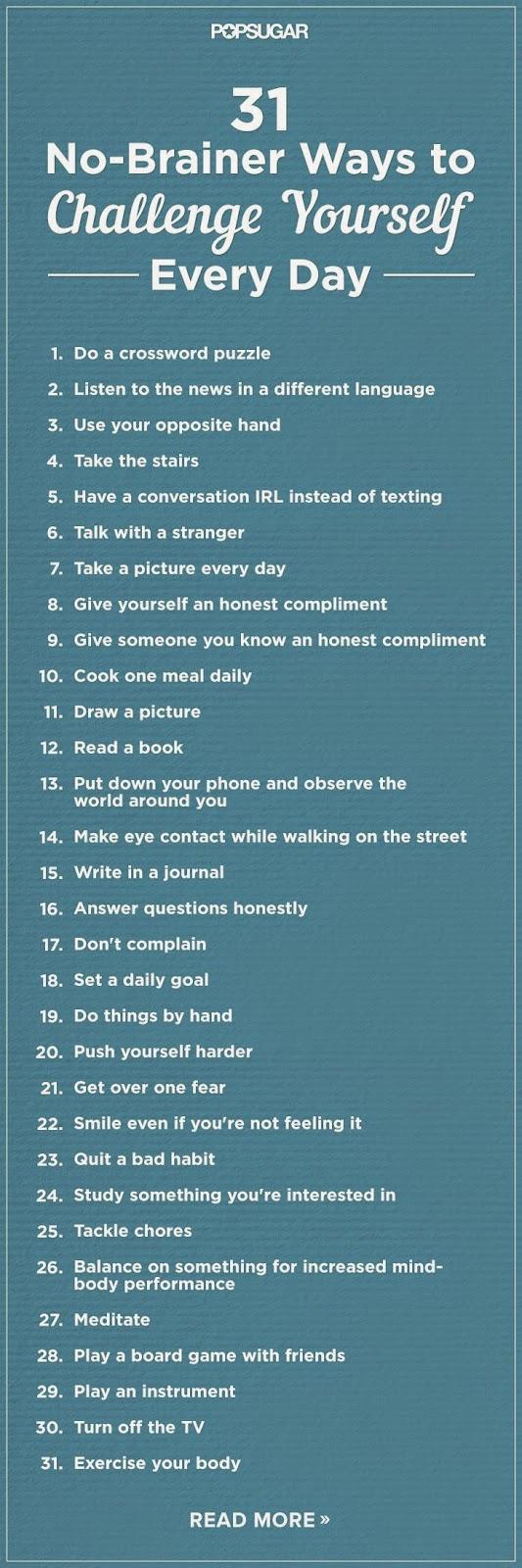 LOOK A DAY   CONSULTORIA DE IMAGEM & COACHING FEMININO: 31 formas fáceis de te desafiares todos os dias!