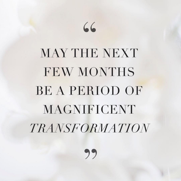 Transformation Quotes May the next few months be a period of magnificent transformation  Transformation Quotes