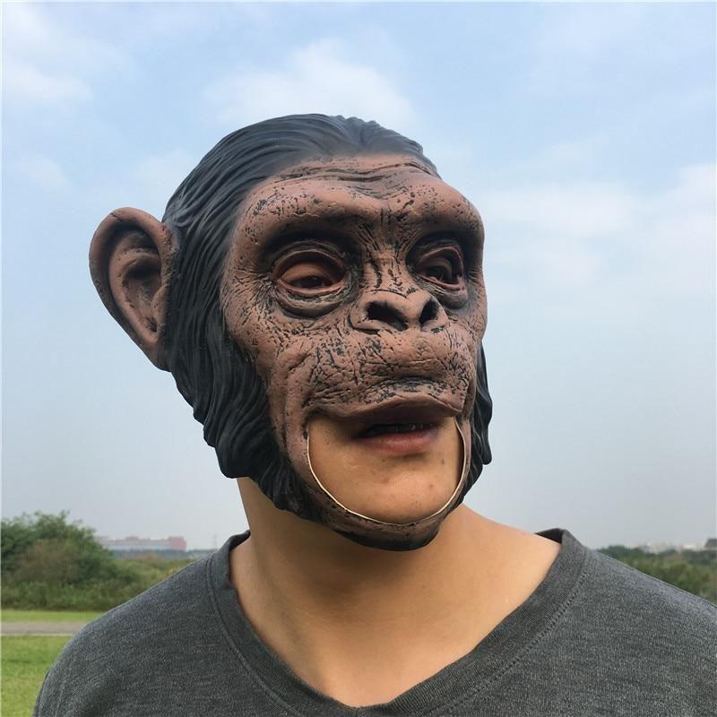 Costumes & Accessories Kids Costumes & Accessories Animal Masks Animal Themed Costumes Monkey Orangutan Mask Cosplay Prop Halloween Accessories Men Women Face Mask Full Head