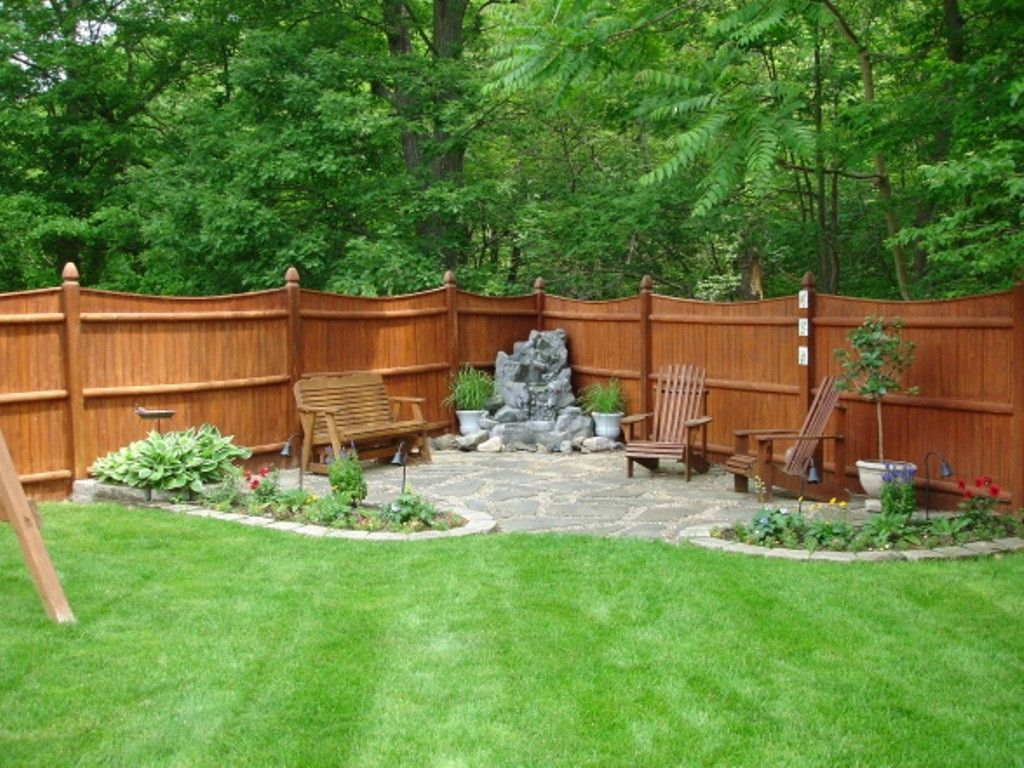 neat small backyard patio