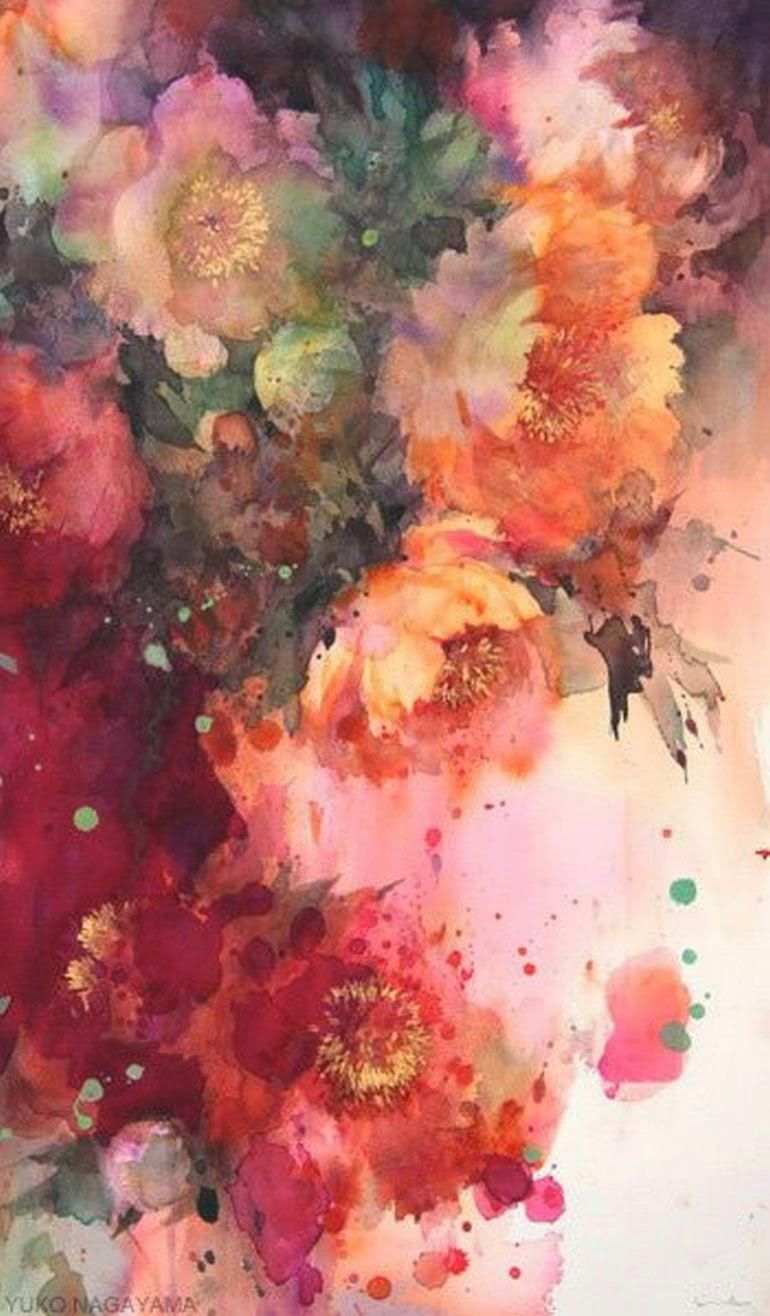 Yuko Nagayama 永山裕子 1963 Symbolic Watercolor Painter