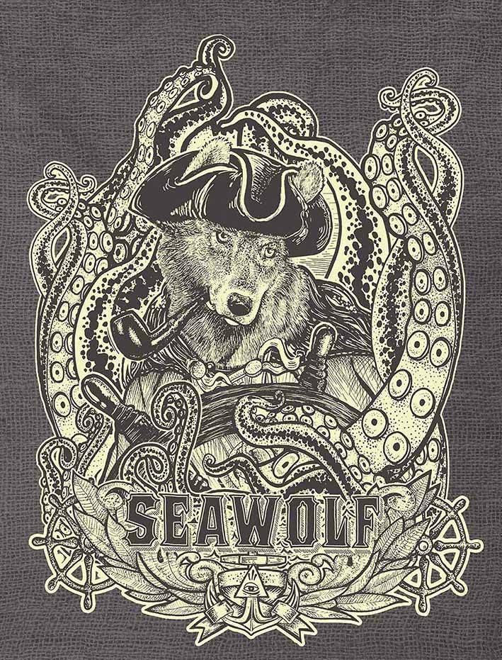 Viejo Lobo De Mar Ilustraciones Dibujos Mar