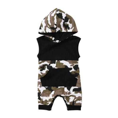 Hooded Pyjama Suit Boys//Girls Fleece Camo Army Onesie Warm Fleece Sleepsuit