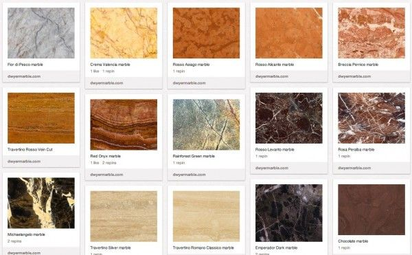Different colored marble tile marble colors walls Stone flooring types