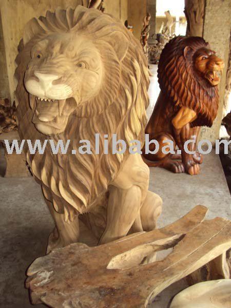 Tallado De Madera Decoración Roseta Con Cabeza De León
