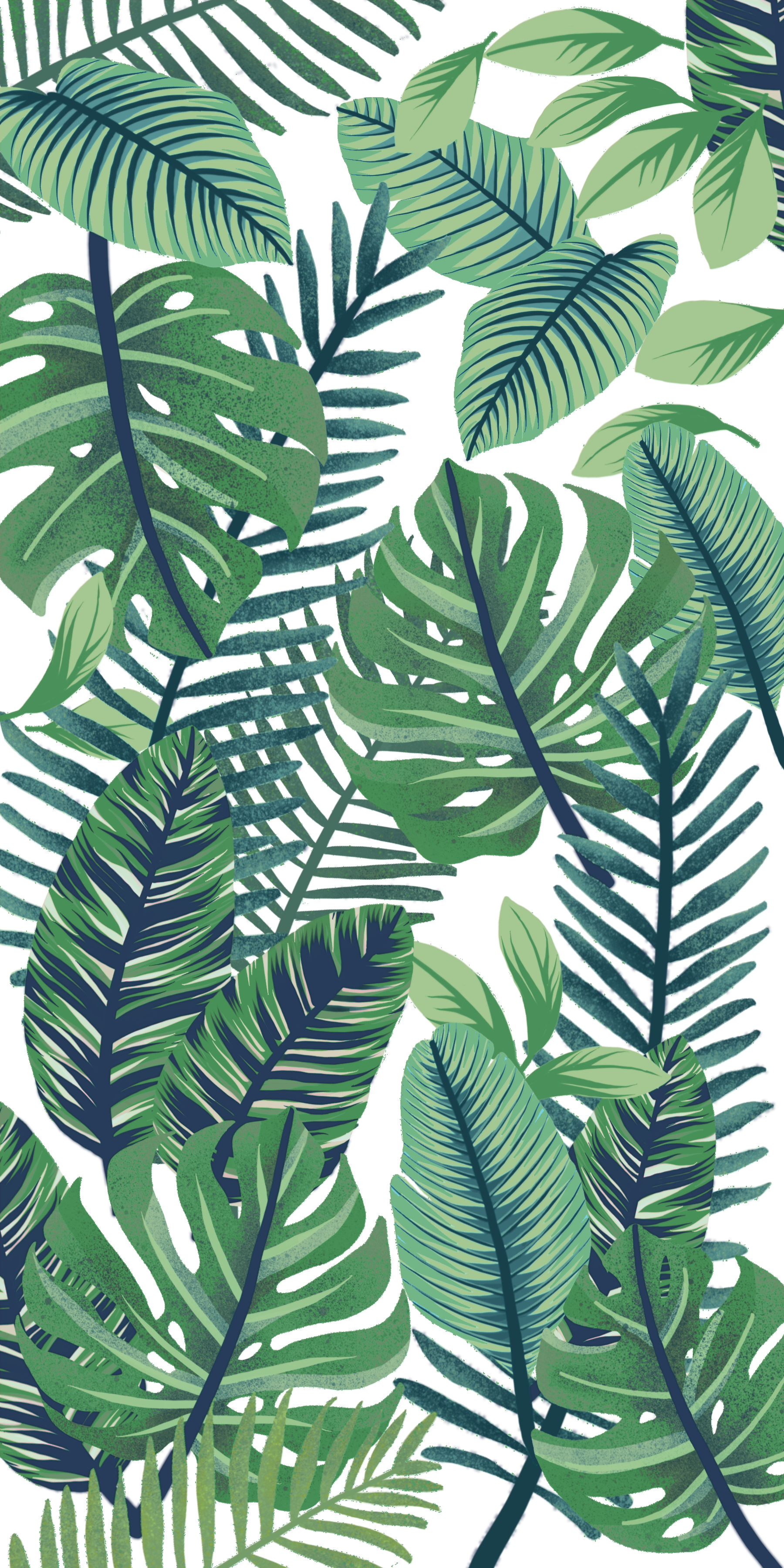 Green Jungle. Casetify iPhone Art Design Foliage