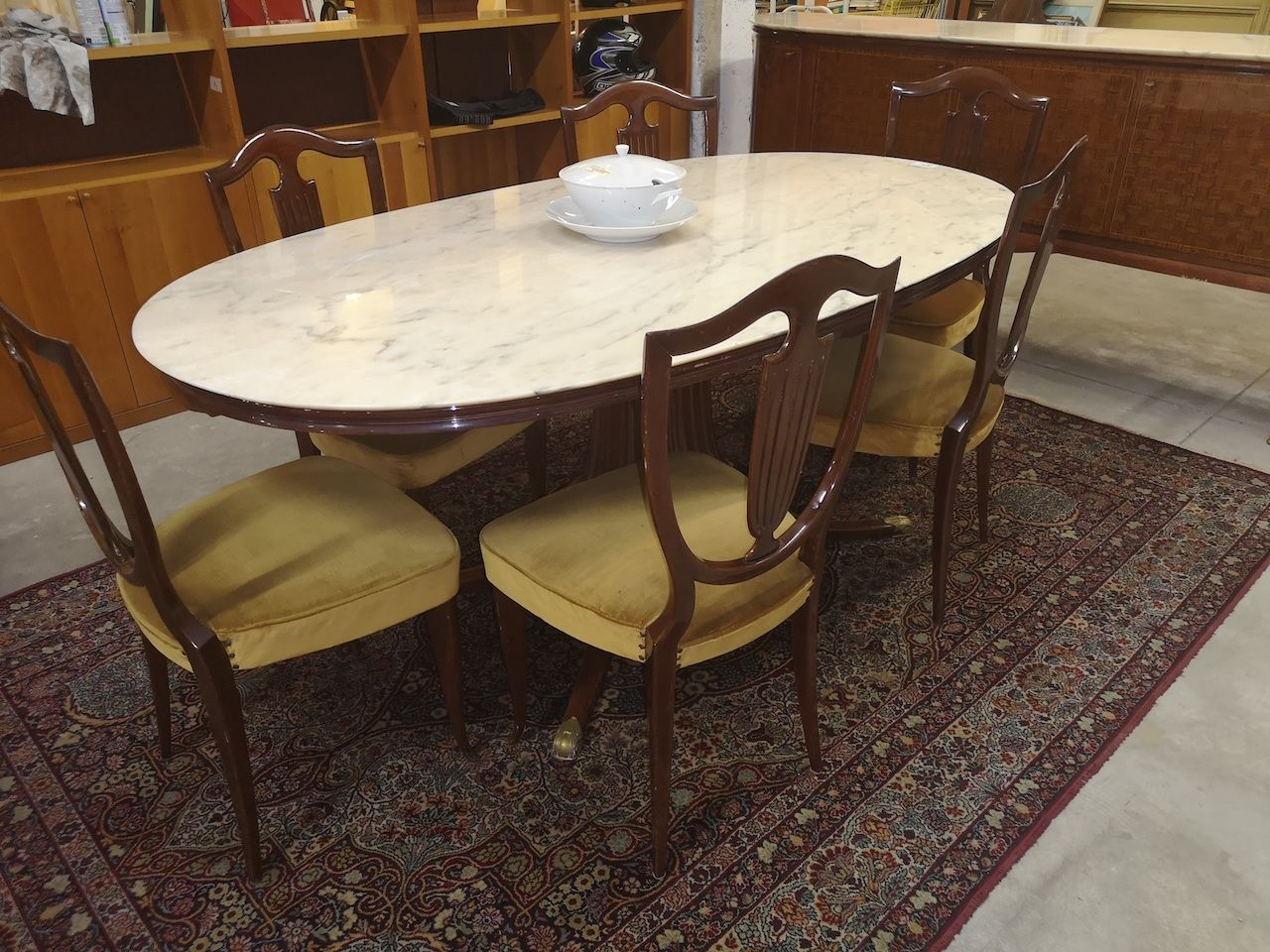 tavolo ovale marmo con 6 sedie - nientedinuovo.it | Tavolo ...