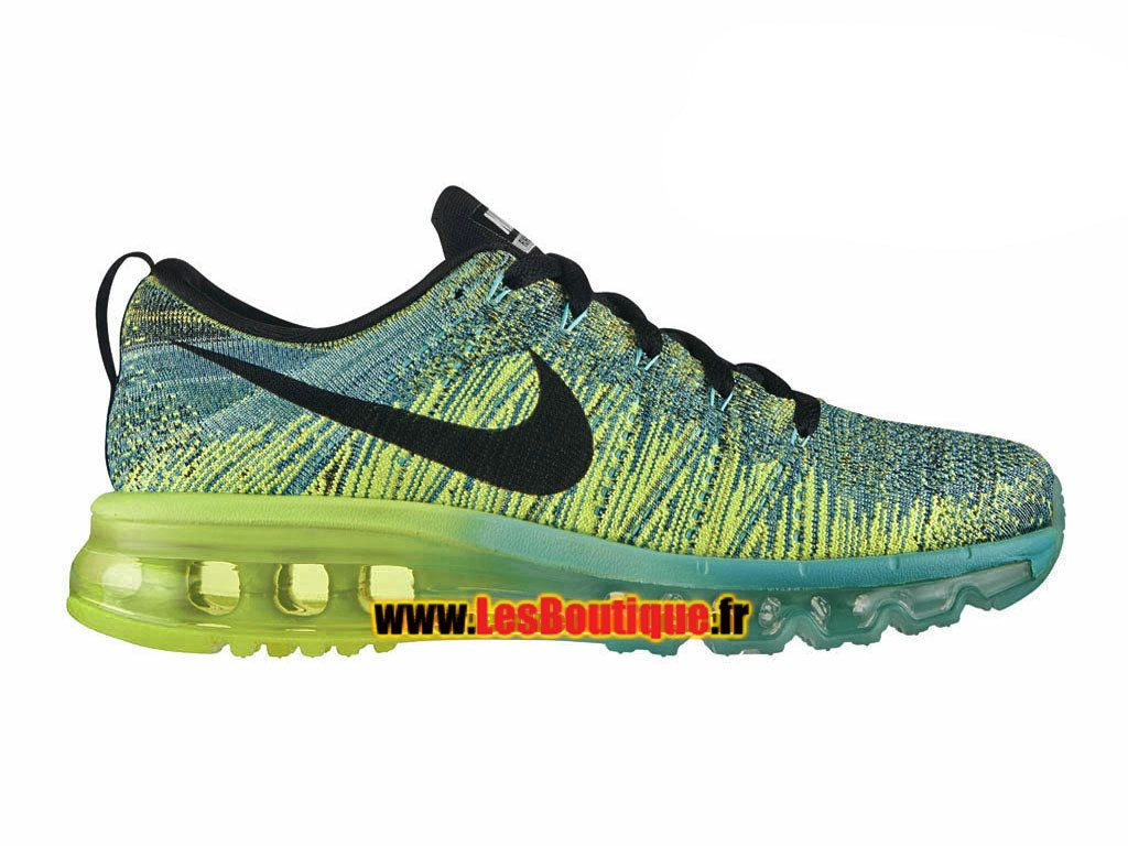 online retailer 75274 b99d9 Nike Flyknit Air Max - Chaussure de Running Nike Pas Cher Pour Homme Hyper  turquoise