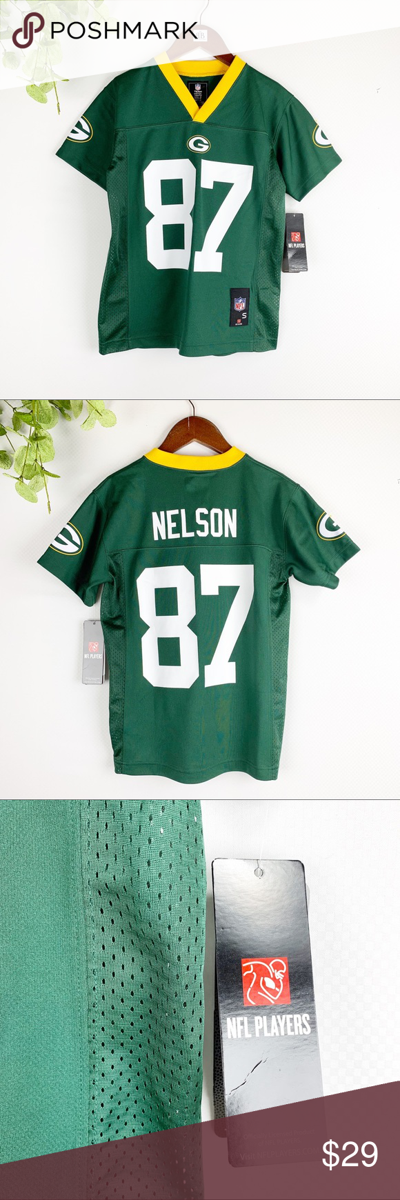 Sold Nfl Youth Green Bay Packers 87 Jordy Nelson Nwt Nfl Shirts Team Apparel Green Bay Packers Jerseys