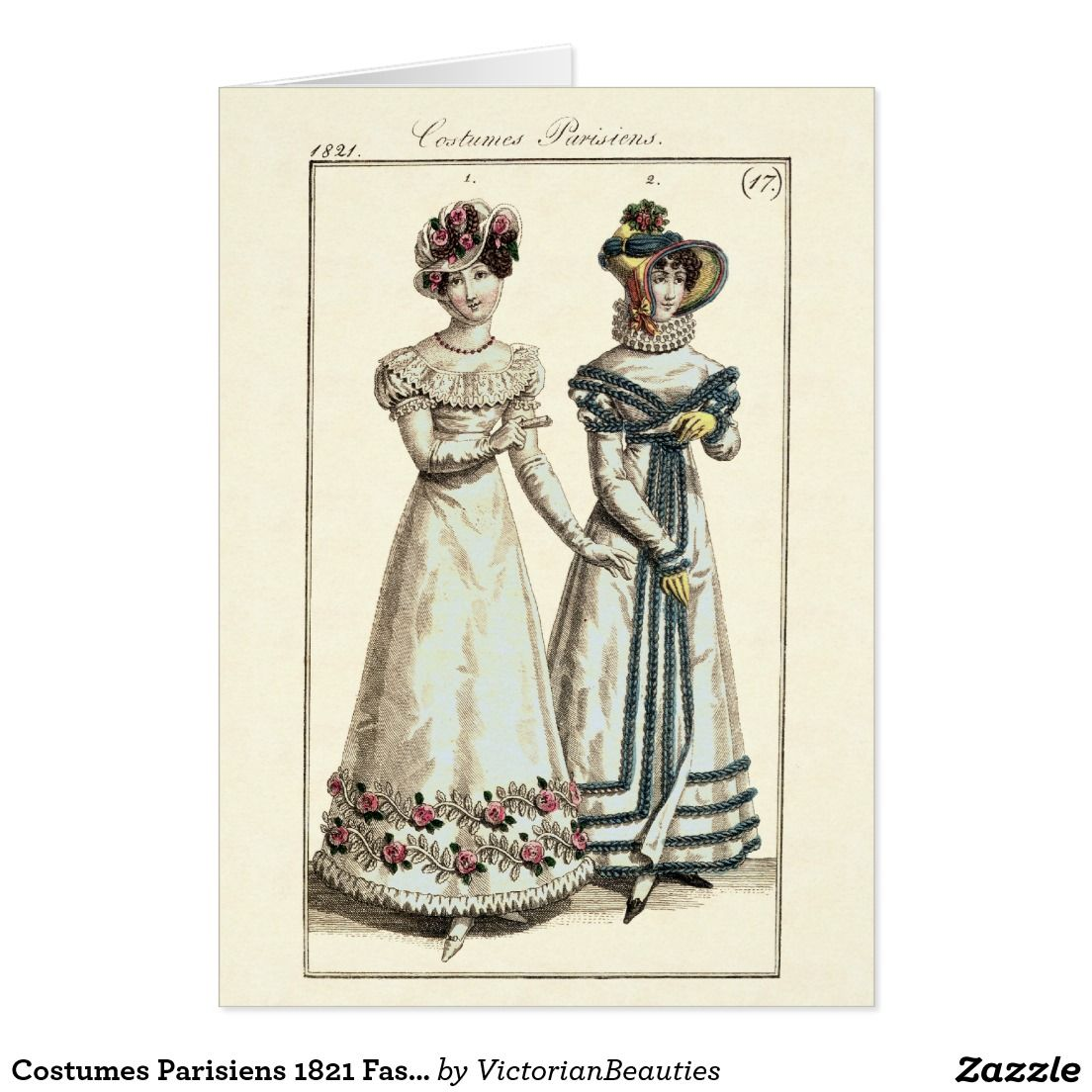 Create Your Own Card Zazzle Com In 2020 Antique Illustration Create Your Own Card Fashion Plates