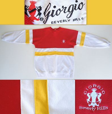 80's GIORGIO Beverly Hills Sweatshirt!  SOLD!