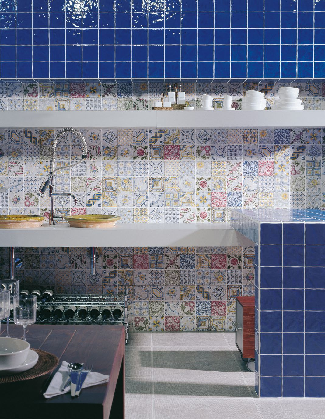 Top 15 Patchwork Tile Backsplash Designs for Kitchen | Pinterest